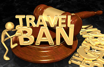 Travel Ban Gold Gavel