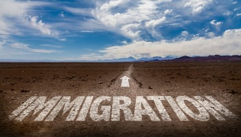 Image of Immigration on Dirt Path