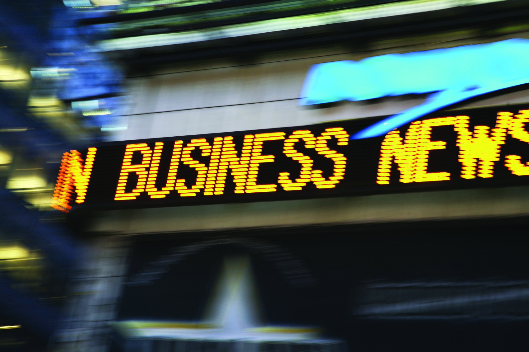 Business news stock ticker