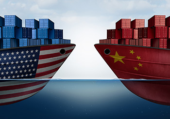 United States and China cargo ships