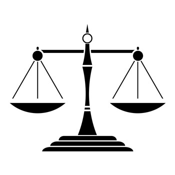 Scales of Justice Silhouette