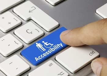 Keyboard showing website accessibility