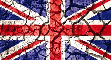 Cracked UK Flag