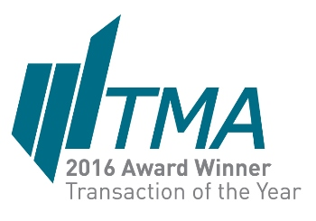TMA 2016 Transaction of the Year Award Winner