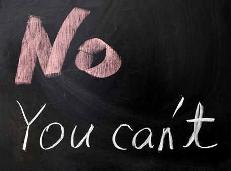 Chalkboard - No You Can't